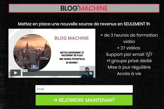 Blog Machine de Maxime et Roman pour créer un blog rapidement