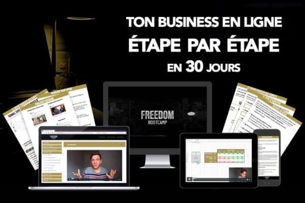 Freedom Bootcamp business en ligne étape par étape en 30 jours