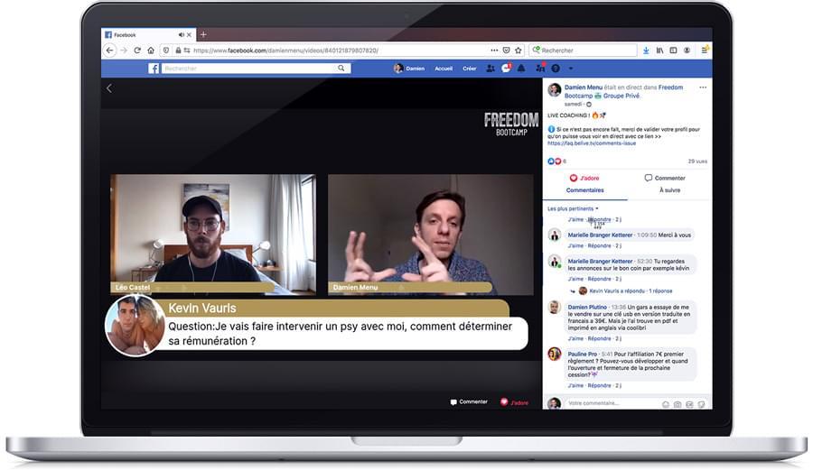 Freedom Bootcamp : Coaching live avec Damien Menu et Léo Castel