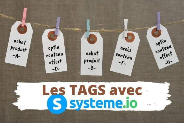 Les tags avec systeme.io
