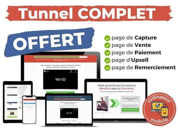 template premium tunnel de vente complet FLG 4