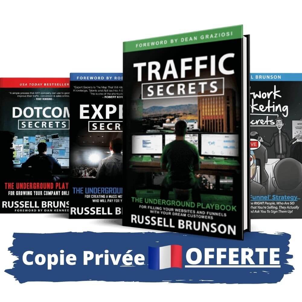 DotCom Expert Traffic Trilogy Secrets de Russell Brunson en Français copie privée